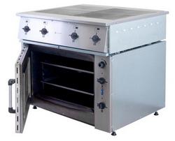 Плита электрическая ПЭ-0.48М четырехконфорочная с жарочным шкафом. Фото с сайта http://www.klenmarket.ru